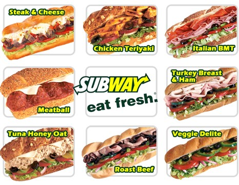 Dining Out Subway Healthy Food Adventure